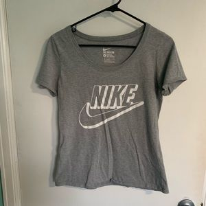 Gray Nike Short Sleeve T-Shirt